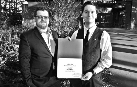 LC student Owen Blair awarded Honorable Mention at West Coast Model European Union Competition